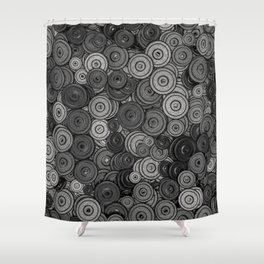 Heavy Iron 3D Render Of Hundreds Weight Plates Shower Curtain