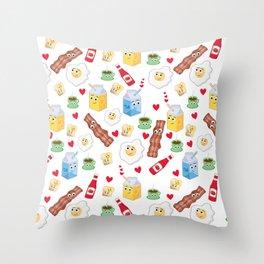 Breakfast in Love Throw Pillow