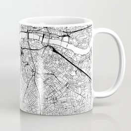 London White Map Kaffeebecher