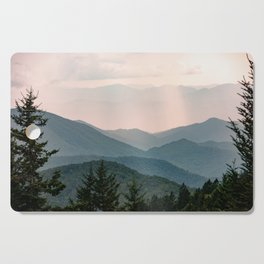 Smoky Mountain Pastel Sunset Cutting Board