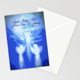 ANGELS TAKING THEIR LOVED ONES TO HEAVEN Stationery Cards