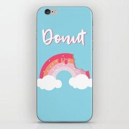 A bite of Donut - Feel like Heaven iPhone Skin