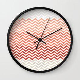 Coral Chevon Wall Clock