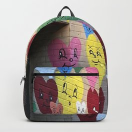 I Heart Brooklyn, Graffiti Art in Williamsburg, BK, New York Backpack