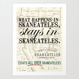 all over Skaneateles Art Print