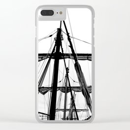 Ships Masts Clear iPhone Case