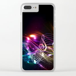 Music Notes in Color Clear iPhone Case