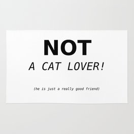 Not a cat lover Rug