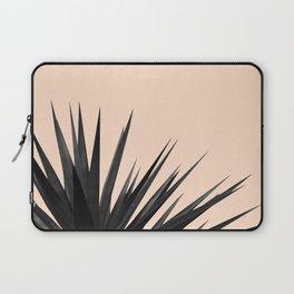 Black Palms on Pale Pink Laptop Sleeve