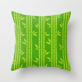 Evergreen Chinese Bamboos Throw Pillow