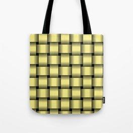 Large Khaki Yellow Weave Tote Bag