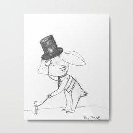 Bankster Bunny Metal Print