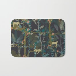 Tropical wild animals in the jungle Bath Mat