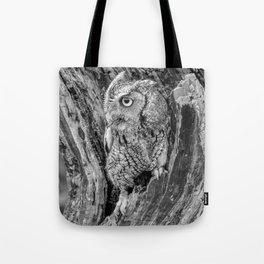 Echo the Screech Owl by Teresa Thompson Tote Bag