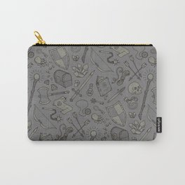 Inventory in Grey Carry-All Pouch