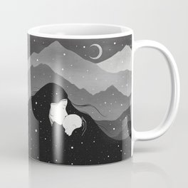 Mountain's Lullaby - Black & White Coffee Mug