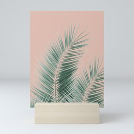 Soft Green Palm Leaves Dream - Cali Summer Vibes #1 #tropical #decor #art #society6 Mini Art Print