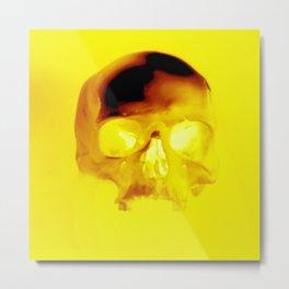Yellow Skull Metal Print