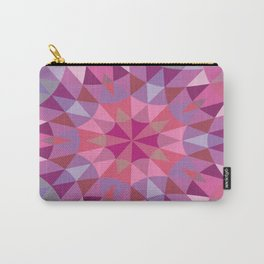 Pink & Mauve Pattern Carry-All Pouch