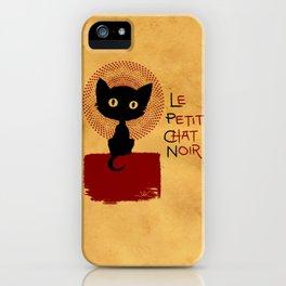Le Petit Chat Noir iPhone Case