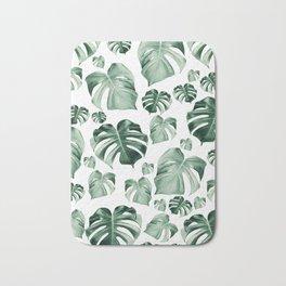 Tropical Monstera Pattern #2 #tropical #decor #art #society6 Bath Mat