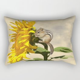 Waiting for the Sunflower Rectangular Pillow