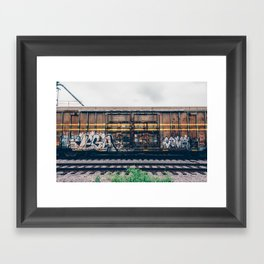 Graffiti Train Framed Art Print