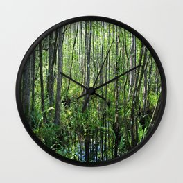 When the Cypress Whispers Wall Clock