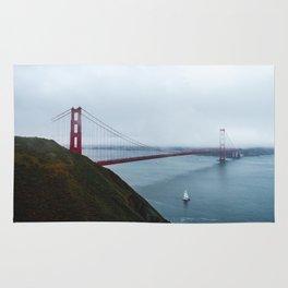 Foggy Golden Gate Bridge - San Francisco, CA Rug