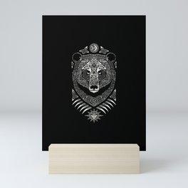 Scandinavian bear Mini Art Print