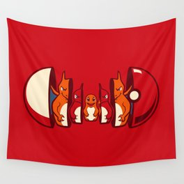 Poketryoshka - Fire Type Wall Tapestry