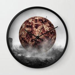 Sunburned Forest Wall Clock