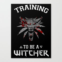 Training to be Witcher Canvas Print