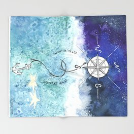 Anchor and the horizon Throw Blanket