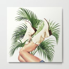 These Boots - Palm Leaves Metal Print