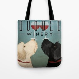 Doodle Goldendoodle Labradoodle Schoodle Whoodle Winery Tote Bag