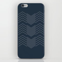 Blue Zags iPhone Skin