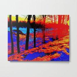 Snow Fire Metal Print