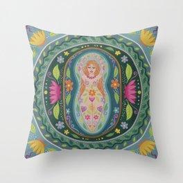 Brigid, Goddess of Spring Throw Pillow