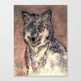 Friendly wolf Canvas Print