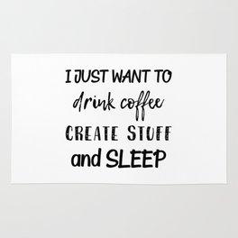 Coffee Create Sleep Rug