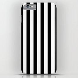 Parisian Black & White Stripes (vertical) iPhone Case