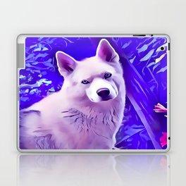 Isabella White Siberian Husky Laptop & iPad Skin