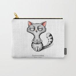 yoga cat sukhasana Carry-All Pouch
