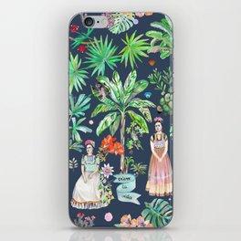 Frida Kahlo Botanics - Carbon Grey iPhone Skin