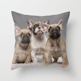 Puppy Gang Throw Pillow