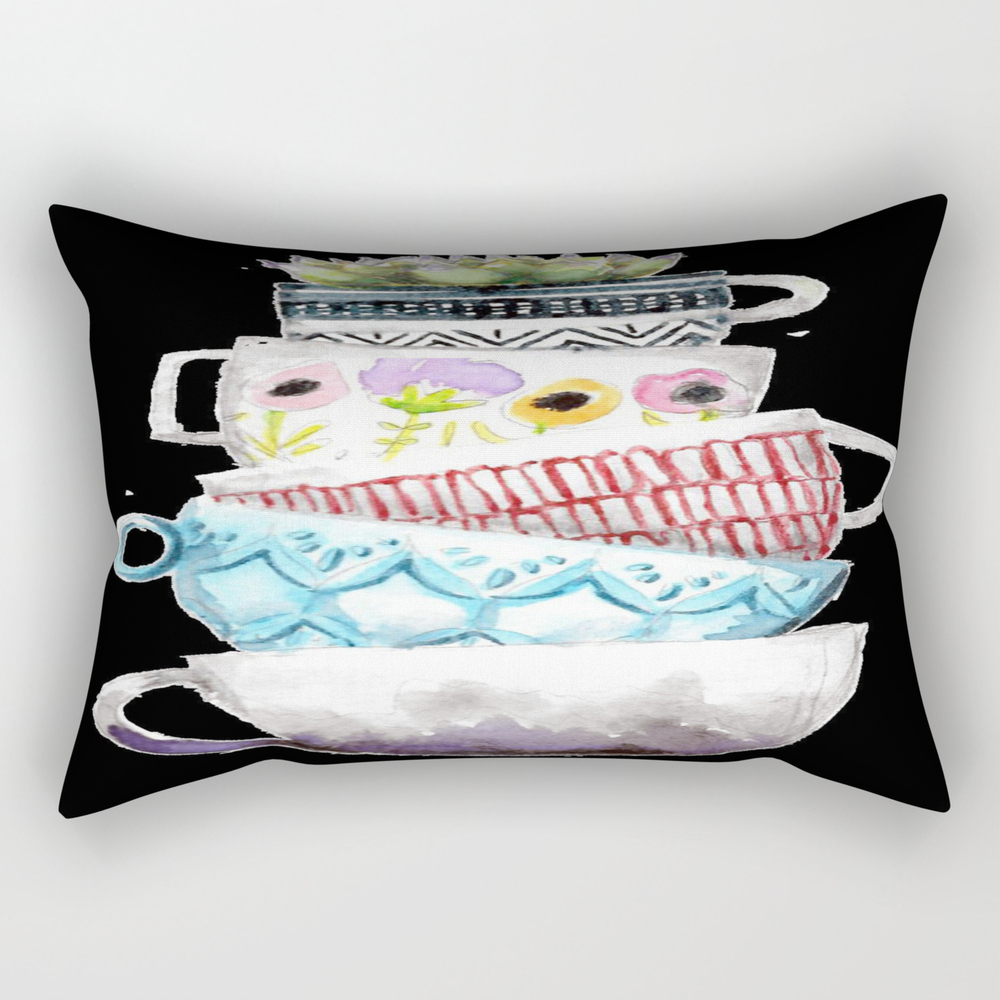 Cups On Cups On Cups Rectangular Pillow RPW8656197