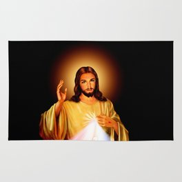 Jesus Divine Mercy I trust in you Religion Religious Catholic Christmas Gift Rug