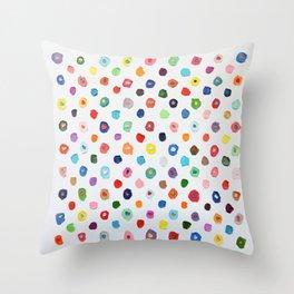 Concentric Confetti Polka Daubs Throw Pillow