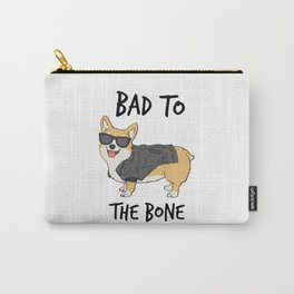 Bad to the Bone Corgi Carry-All Pouch